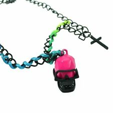 Cupcake Cult Skully P1 Necklace Ladies Black Goth Emo Punk Girls