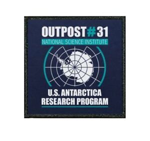 048F FUNNY EMBROIDERED EDGE PATCH FROM OUR TIV RANGE - THE THING OUTPOST 31