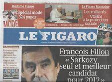LE FIGARO n°20711 05/03/2011  Fillon/ Khadafi/ Cuba/ Renault/ Dior/ ISF/ Raphaël