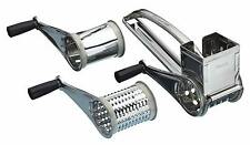 Kitchen Craft Rotary Stainless Steel Cheese Grater 3 Drums Slice Shred