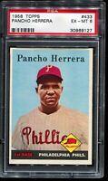 1958 Topps Baseball #433 PANCHO HERRERA Philadelphia Phillies PSA 6 EX-MT