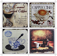 4 X AUTOCOLLANTS STICKER CAFE COFFEE POUR CARRELAGE CUISINE CR014