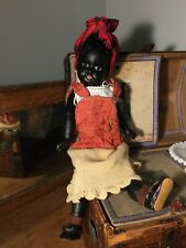 Adorable Antique German Ebony Black Armand Marseille Bisque Head Doll