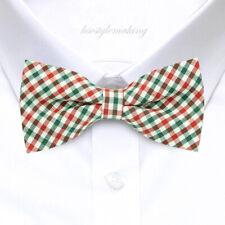 *Brand New* Multi-Color Luxury Checked Tuxedo Boys Bow Tie B767