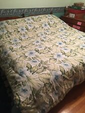 Tommy Bahama Alba Botanical Queen Blue Green White 4 Piece Comforter Set Euc