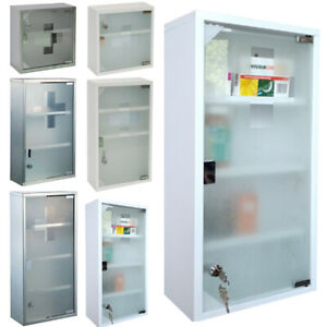 Medicine Cabinet First Help Wardrobe Stainless Steel Apothecary Cabinet
