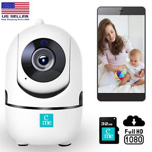 1080P Wireless Indoor WiFi Home Security Camera Elderly Baby Monitor Dog Pet Spy