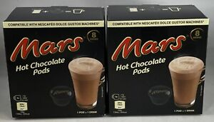 2 Dolce Gusto Compatible Mars Hot Chocolate Pods
