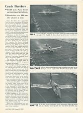 1953 Aviation Article Air Force Crash Barriers Grumman F9F Panther USS Roosevelt