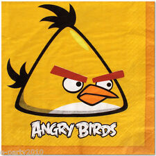 ANGRY BIRDS LARGE NAPKINS (16) ~ Birthday Party Supplies Dinner Lunch Paper