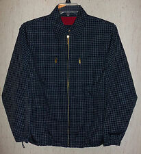 EXCELLENT WOMENS Catalina NAVY BLUE PLAID LINED WINDBREAKER JACKET   SIZE S