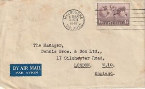 1946 Australia cover sent from Melbourne to London England