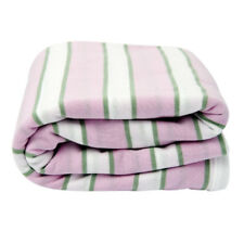 Lil Fraser Collection Indiana Baby Wrap Pink White and Sage Cotton Swaddle