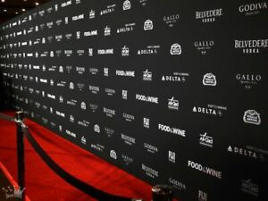 Fully Digitally Printed BOARD Step and Repeat PHOTO BACKDROP Your Logo Repeater