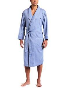 Nautica Mens Captains Herringbone Woven Shawl Collar Robe- Pick SZ/Color.