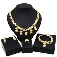#38 HUGS & KISSES xo Set Teddy bear 18k Layered Real Gold Filled