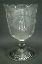 EAPG McKee Boston Sandwich Bellflower Ribbed Flint Glass Spooner Circa 1860s