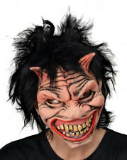 MISCHIEVOUS FITTED MASK WITH HAIR HALLOWEEN HORROR FANCY DRESS