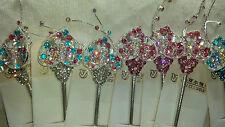 Joblot 12pcs Mixto Color Diseño De Flores señoras Metal Cabello Pin nuevo al por mayor lot1