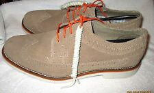 NICE - CHAPS  Men's Brown Suede Leather Lace Up Oxford Shoes, 8.5M