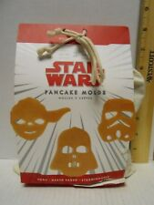Star Wars Williams Sonoma Pancake Molds Yoda  Darth Vader  Storm Trooper