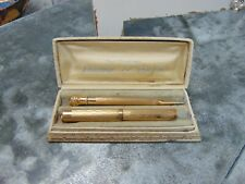 1920S WAHL EVERSHARP GOLD FILLED PEN & PENCIL SET 14K GOLD NIB ORIGINAL BOX