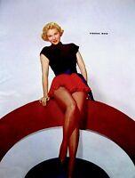 Pinup Lithograph Virginia Mayo 1953 VTG Six Portrait Original Litho Promo Photo