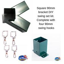 Swing bracket DIY kit, 90x90mm,wall bracket, square swing hooks,climbing frame