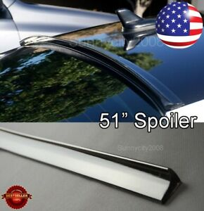 "51"" Semi Gloss Black Rear Flexy Diffuser Window Roof Trunk Spoiler Lip For  Ford"