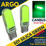 501 Silicone Car Bulbs Led Error Free Canbus Cob Smd Green T10 Side Light 12v