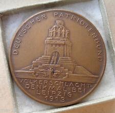original  Medaille 1813 1913 Völkerschlachtdenkmal Deutscher Patriotenbund