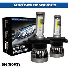 COB H4 LED Headlight Kit 9003 HB2 72W 9000LM 6000K Fog Light 6000K Xenon White