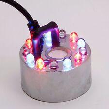 12-LED Colorful Light Ultrasonic Mist Maker Fogger for Indoor Desktop Fountain