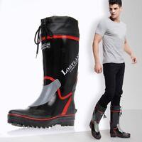 Men Garden Farm Rubber Wellies Waterproof Fishing Rain Boots Mid Calf Work Shoes