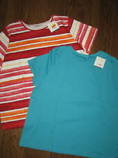 New lot womens plus size tops 3X shirts cotton Croft & Barrow classic tee crew