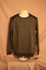 NWT Rock&Republic Charcoal Black Long Sleeve Fleece Henly Shirt Sz L {D013]