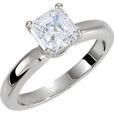 1.10 carat Asscher cut brilliant Diamond Engagement Ring H color SI1 clarity