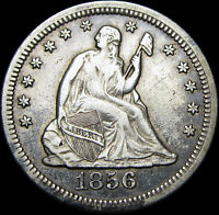 1856-O Seated Liberty Quarter Dollar Silver   ---- Nice Type Coin  ---- #K120
