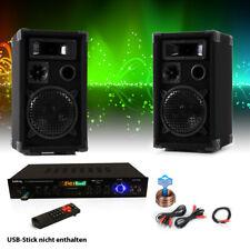 Party Musikanlage PA Lautsprecher Boxen Bluetooth Receiver USB SD AUX MP3 Kabel
