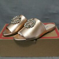 CHARLES DAVID women's slip on flats rose gold SOLEIL slide sandal size 8.5 M New