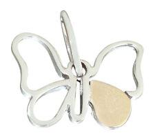 Schmetterling Weißgold 585 bicolor Anhänger Weißgoldanhänger Goldanhänger 14 kt