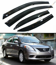 JDM MUGEN STYLE SMOKED WINDOW VISOR VENT SHADE FOR 2012-2017 NISSAN VERSA SEDAN