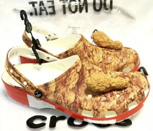 NEW LIMITED EDITION KFC x CROCS, Stock X, Kentucky Fried Chicken, Size 10 Rare!