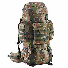 Caribee Platoon 70L Rucksack Travel Back Pack Hiking Backpack Luggage Bag Auscam