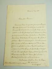 MAX SCHAFFNER (1830-1907): Brief AUSSIG 1868 vom Direktor der Chemiefabrik