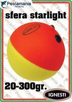 Galleggiante Ignesti scorrevole a palla con portastarlight siluro sfera