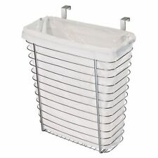 Over Тhe Cabinet Wastebasket Trash Can Storage Basket Kitchen Wire Metal Waste