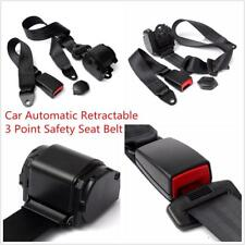 Auto Car Racing Black 3 Point Front Safety Automatic Retractable Lap Seat Belts