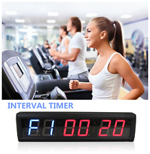 LED 6-Digits 1.8'' Interval Training Timer Wall Clock w/Remote Fitness Garage WO