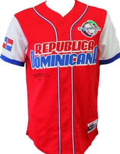 Vladimir Guerrero Jr. Signed Republica Dominicana Red Majestic Jersey- JSA Auth